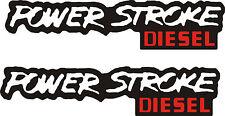 """Pair of POWER STROKE DIESEL Vinyl decals  11"""" x 2.5"""" Each/ Made of 3 layers"""
