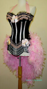 Pink Moulin/Showgirl/Mardi Gras/Carnival/Circus Burlesque Costume Feather