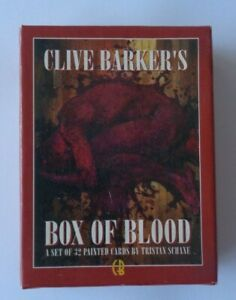 Clive Barkers  Box Of Blood   25  Trading Cards  Set