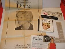 PRINCESS DIANA PRINCESS OF WALES FUNERAL SERVICE PAPER - Life Death - CD-ROM
