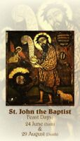 St. John the Baptist, Patron Saint of Baptism and Apostle, Prayer Card 10-pack