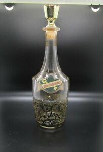 Vintage 1954 Old Fitzgerald Bourbon Whiskey Ornate Bottle. 4/5 Quart. Rare