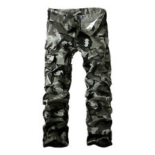 Casual Combat Mens Cotton Cargo ARMY Pants Military Camouflage Camo Trousers