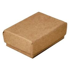 """Wholesale Lot 200 Small Kraft Cotton Fill Jewelry Packaging Gift Boxes 1 7/8"""""""