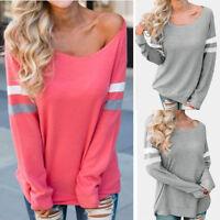 Plus Size Women Ladies Long Sleeve Splice Blouse Tops Plus Size T-Shirts Blouse