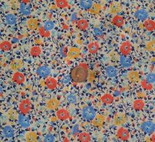 """Pretty Lida Lightweight Knit Fabric SNOWBELL Flowers on Off White 62""""W x 1¾ Yrds"""