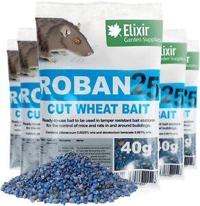 Roban25 Mouse & Rat Wheat Bait Poison - Strongest Available Online, 40g Sachets