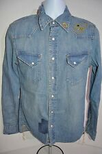 REMI RELIEF Man's Denim Western Casual Shirt   NEW   Size Medium   Retail $570