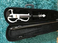 Blanc 4/4 Electric Silent violin with case Bow Rosin Écouteur Connecting Line V-013