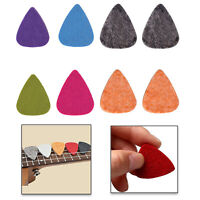 Guitar Picks Plectrums Mixed Colors 10pcs Felt Triangle Electric Acoustic Bass