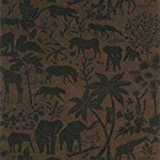 THIBAUT UTOPIA WALLPAPER AFRICAN ANIMAL SAFARI THEME SOPHISTICATED BLACK  BROWN