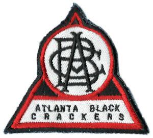 "ATLANTA BLACK CRACKERS NEGRO LEAGUE BASEBALL 3.5"" TRIANGLE TEAM PATCH"