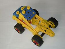 Lot pièces Meccano junior piece construction toys voiture auto vehicle véhicule
