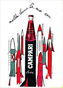 """1966 (2000) * Manifesto """"CAMPARI Soda, Luna - Franz Marangolo"""" Medio (A)"""