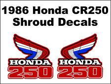 Tank decals for 1986 Honda CR250r Dirtbike    CR250 CR 250 250r