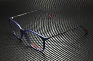 PRADA LINEA ROSSA PS 03IV U631O1 Trans Blue Rubber Demo Lens 54 Men's Eyeglasses