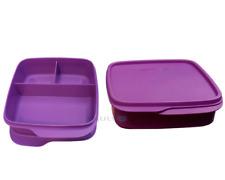 Tupperware 2x Clevere Pause Lunchbox Brotdose Sandwich Dose Box lila Pausenbox