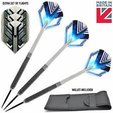 24g Tungsten Darts + Dart Flights, Dart Shafts, Dart Wallet & Free Spare Flights
