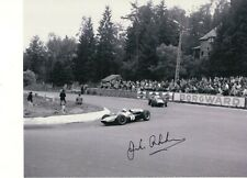 JACK BRABHAM HAND SIGNED 8x10 PHOTO+COA          FORMULA 1 RACING LEGEND