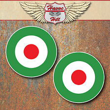 Mod Italian Laminated Stickers 80mm scooter motorbike motorcycle Vespa Decals 2