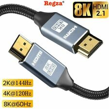 8K HDMI 2.1 UHD Cable HDTV 3D 4K 2160P HDR 120Hz 48Gbps Dolby HDCP 2.2 RGB 4:4:4