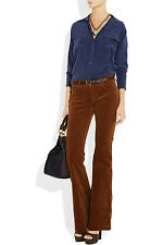 $258 Equipment Navy Brushed Silk Red Pocket Stripe eqpt Button Down Top S