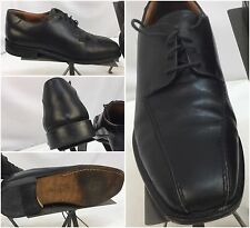 Pronto Uomo Dress Shoes Sz 9.5 M Black Oxford Split Toe Italy YGI L6-19