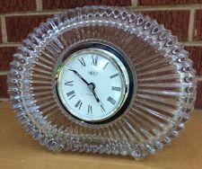 """MIKASA Crystal """"Diamond Fire"""" German Quartz Clock  Approx. 7 1/4"""" x 6 1/4"""""""