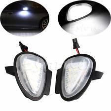 2x CAN-bus White 6-LED Under Side Mirror Puddle Light for VW Golf GTi MK6 6 MKVI