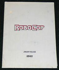 ROBOCOP 1987 ORIGINAL ORION HOME VIDEO VHS RELEASE DEALER PRESS KIT