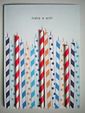 "PAPER MAGIC ~ EMBELLISHED ""MAKE A WISH"" BIRTHDAY GREETING CARD + ENVELOPE"