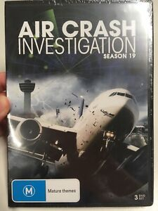 NEW & SEALED Air Crash Investigation : Season/ Series 19 DVD 3 Disc Set Aus R4