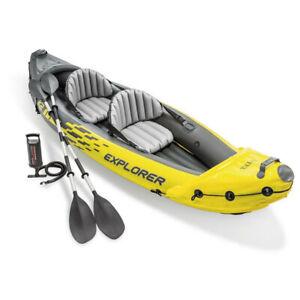Intex 312cm Sports Explorer K2 Inflatable/Floating Kayak/Boat Oars River/Lake