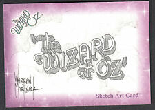THE WIZARD OF OZ SERIES 1 Breygent 2006 SKETCH CARD by WARREN MARTINECK v2