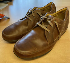 MENS CLARKS 1825 CASUAL LEATHER LACE UP SHOES - BROWN - UK SIZE 10