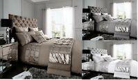 Luxury Adrianna Duvet Set 3 PCs Duvet Cover Set Quilt Cover Set Bed Set Bedding