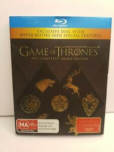 GAME OF THRONES BLU RAY - Season 3-LIMITED EDITION 1557  - Free Post