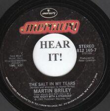Martin Briley 80s ROCK 45 (Mercury 812 165) The Salt in My Tears/Dumb Love  VG++