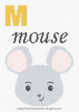 Crochet Patterns - Letter M - MOUSE Baby Graph Chart Afghan Pattern