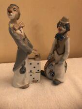 Casades Spain Porcelain Pair Of Clowns