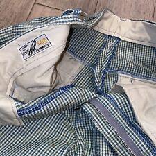 Vtg 50s 60s Mens 31 29 Pants Lee Mr Fastbacks Slacks Blue Plaid Midcentury Mod