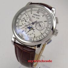 6ebb9f34a77 42 mm Debert Esfera Blanca Fecha Día De Fase Lunar Reloj Automático para  Hombre Multifunción 98