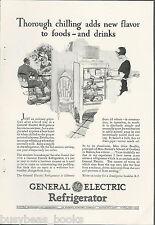 1928 General Electric Refrigerator advertisement, early MONITOR-TOP fridge, GE