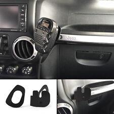 75WXST CB Radio Mic Mount Holder Passenger Grab Bar for Jeep Wrangler JK 2011+