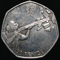 2011 | Elizabeth II London 2012 'Shooting' 50p | Cupro-Nickel | KM Coins