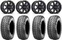 """Raceline Hostage 14"""" Black Wheels 30"""" Liberty Tires Honda Pioneer 1000 / Talon"""