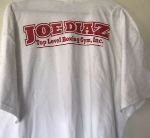 Joe Diaz Top Level Boxing T-shirt David Ottis Chicago Men's XL Red/White Double