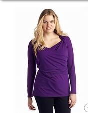 New Directions® Womens Plus Size Clothes 2X Asymmetrical Knit Top Shirt