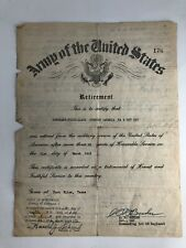 Vtg Wwii Us Army Retirement Letter Dated 1949 Military Signed