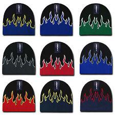 1 Dozen Boys Girls Kids Youth Decky Fire Flame Beanies Caps Hats Wholesale Lot